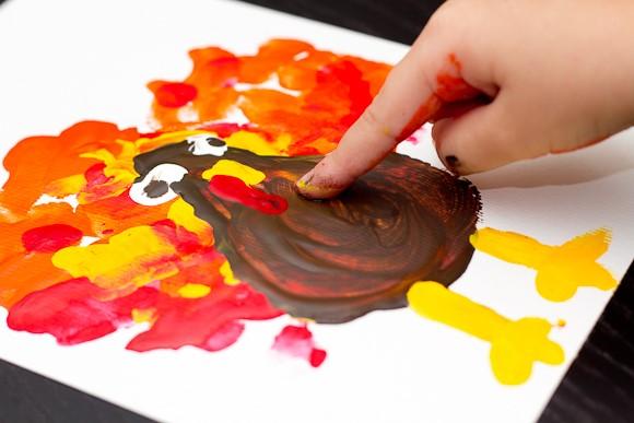 melukis+menggunakan+jari
